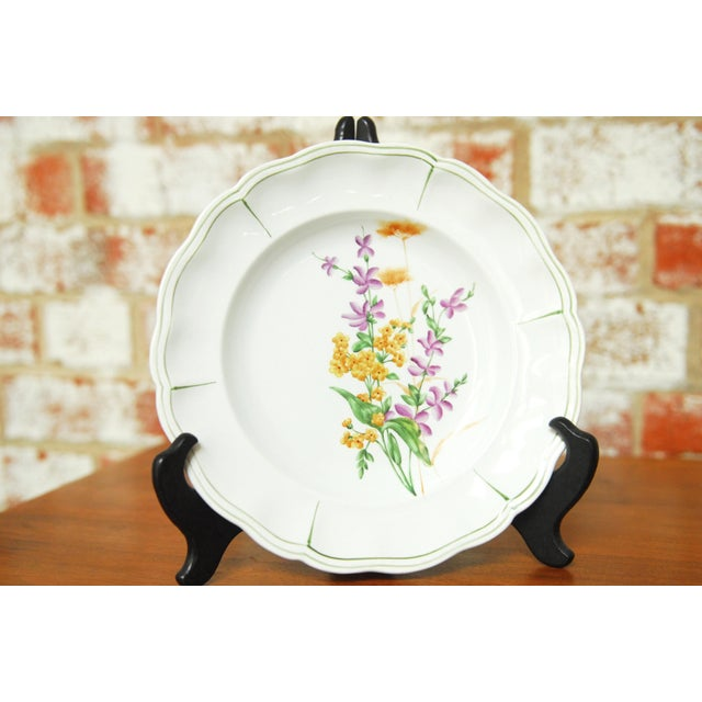 """Set of 66 French Luneville Hand-Painted Floral Dining Plates """"Rovina Epinal"""" - Image 4 of 11"""