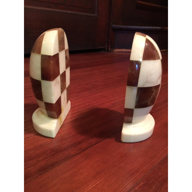 Hand-Carved Italian Alabaster Book Ends - Image 6 of 7