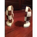 Image of Hand-Carved Italian Alabaster Book Ends