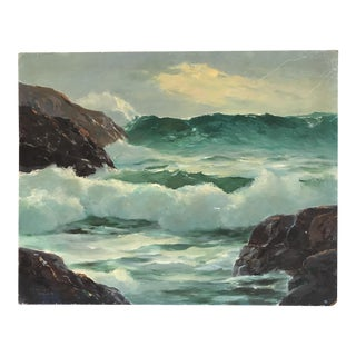 'Pounding Surf' Vintage Oil