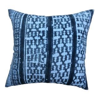 Gray Batik Cotton Tribal Pillow