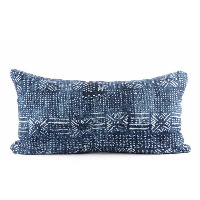 Botanical Blue Mudcloth Pillow - Image 4 of 4