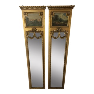 19th Century Italian Trumeau Mirrors - A Pair