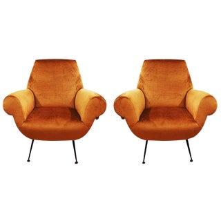Pair of Sleek Armchairs