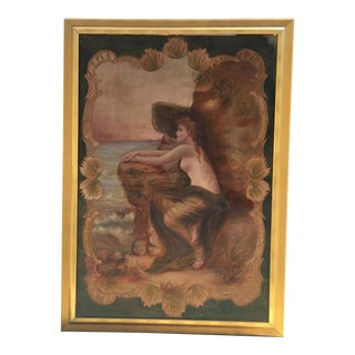 Antique Nude by the Sea Original Painting