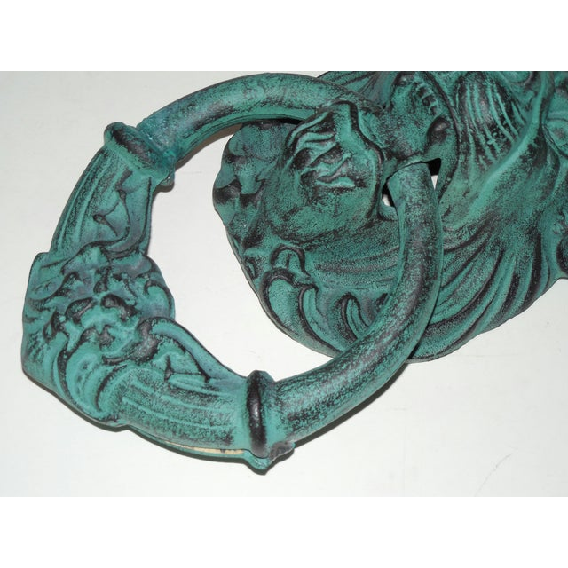Verdigris Metal Lion's Head Ring - Image 6 of 7