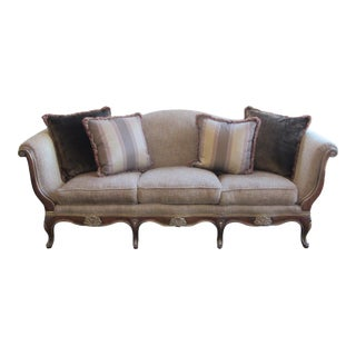 Century Furniture Camel Back Roll Arm Sofa