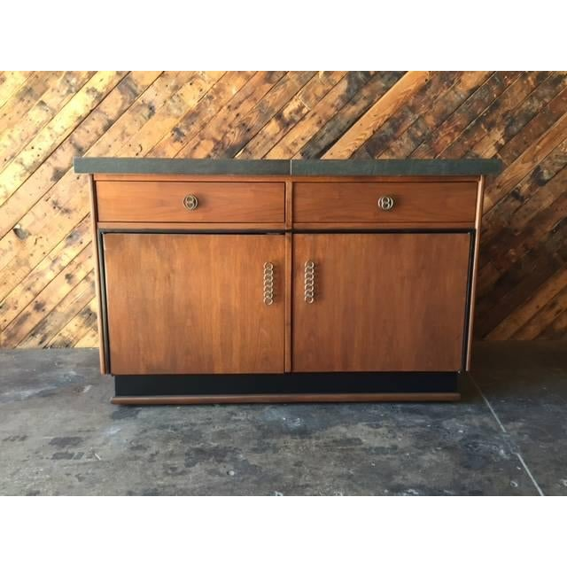 Mid Century Transforming Cocktail Bar Cabinet - Image 2 of 6