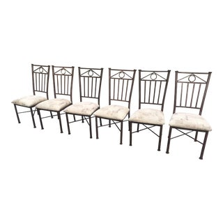 Minson Metal High Back Chairs - Set of 6