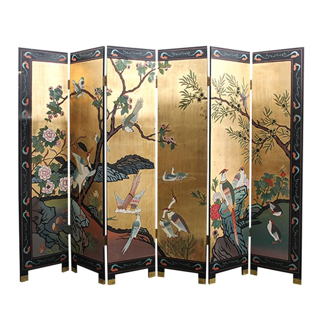 Mid 20th Century Chinese Folding Screen - Image 1 of 6