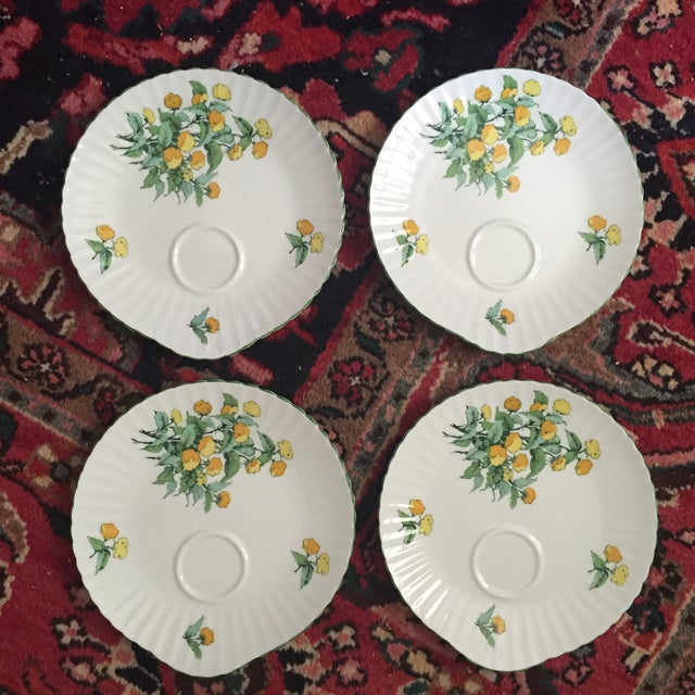 Staffordshire Cornwall Scalloped Teacup Dessert Plates - Set of 4 - Image 2 of 7