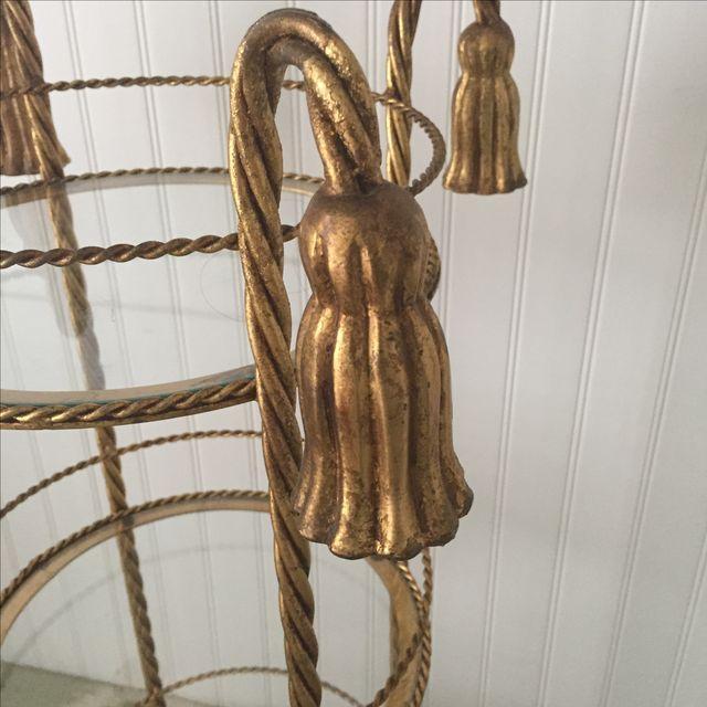 Hollywood Regency Gold Gilt Metal Etagere - Image 7 of 7