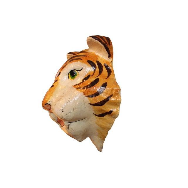 Decorative Paper-Mâché Tiger Mask - Image 3 of 4