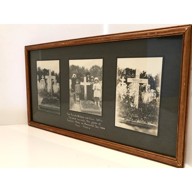 Image of Antique French Funerary Scene Triptych