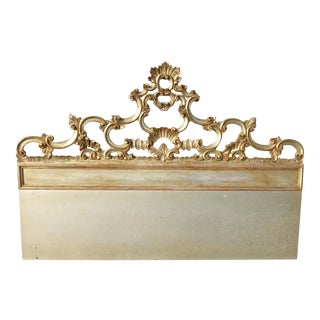 Rococo Gold & Silver Solid Wood King Headboard