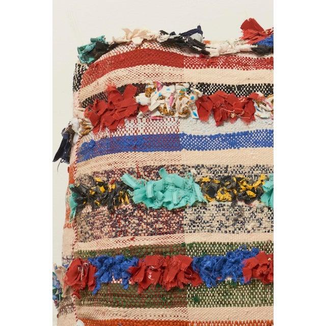 Moroccan Multicolor Floor Cushion Pouf - Image 4 of 4