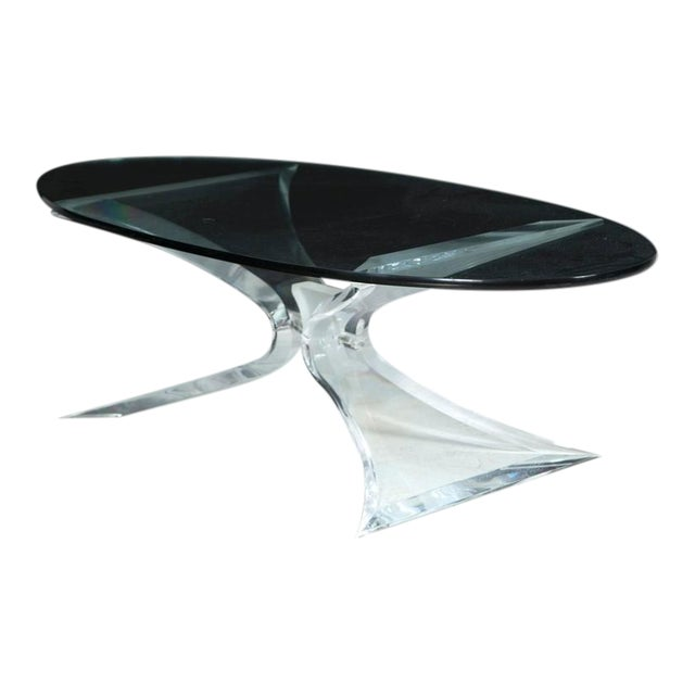 Lion in Frost Lucite Butterfly Coffee Table - Image 1 of 4