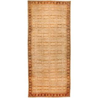 Exceptional Antique Oversize Mid 19th Century Indian Agra Carpet
