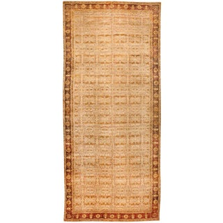 Exceptional Antique Oversize Mid 19th Century Indian Agra Carpet