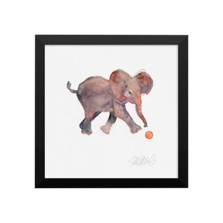 Steve Klinkel Framed Elephant Watercolor Print