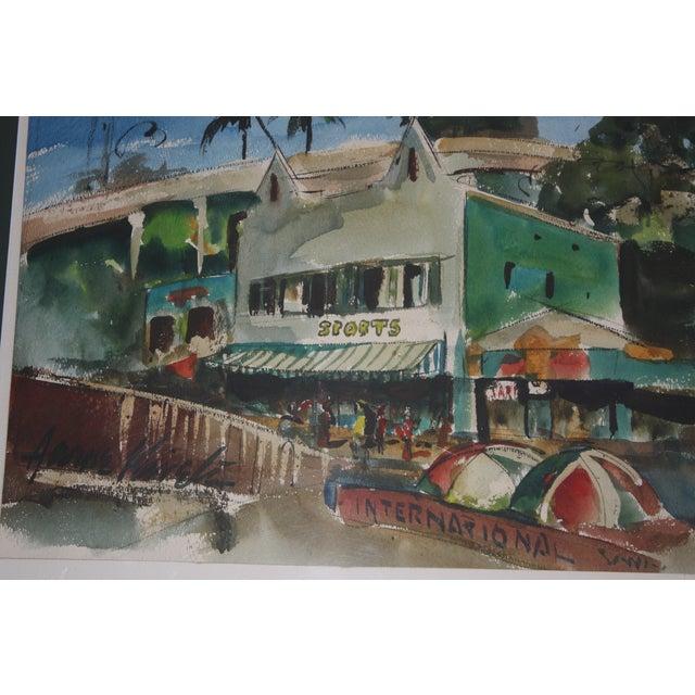 Santa Monica Shoreline Original Watercolor - Image 5 of 6