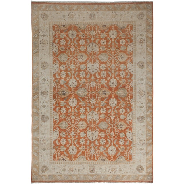 Image of New Oushak Hand-Knotted Rug - 6′1″ × 9′