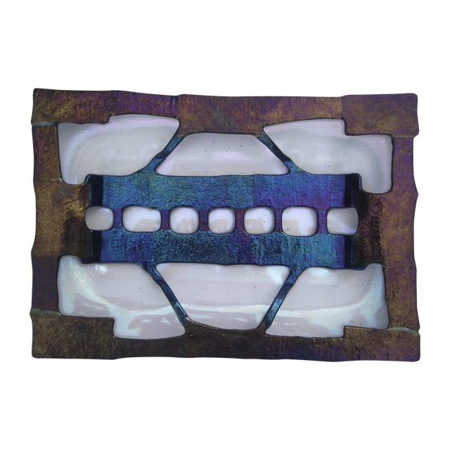 Decorative Fused Glass Dish - Image 1 of 8