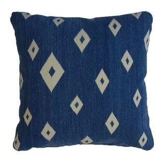 Bright Blue Kilim Rug Pillow