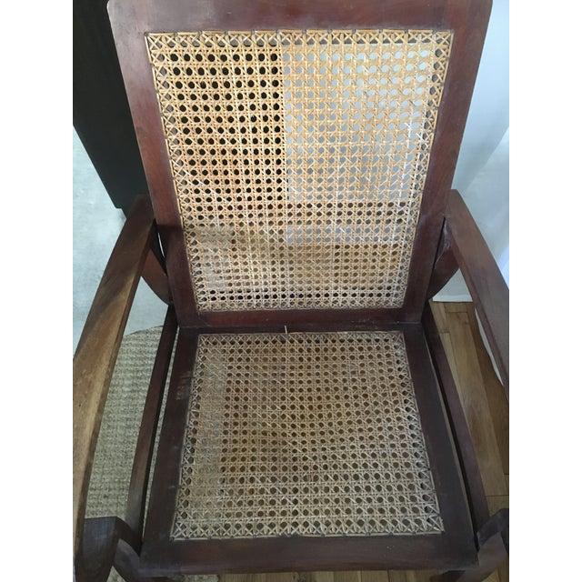 Mid-Century Teak Cane Chair - Image 4 of 5