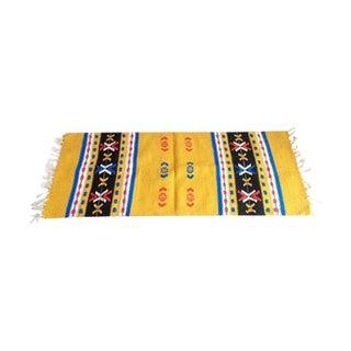 """Vintage Swedish Yellow Wool Rug - 1′3″ × 2′1"""""""