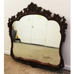 Image of Vintage French-Style Flamed Mahogany Carved Mirror