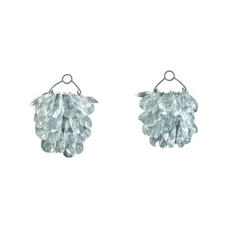 Hanging Crystal Candle Sconces - A Pair