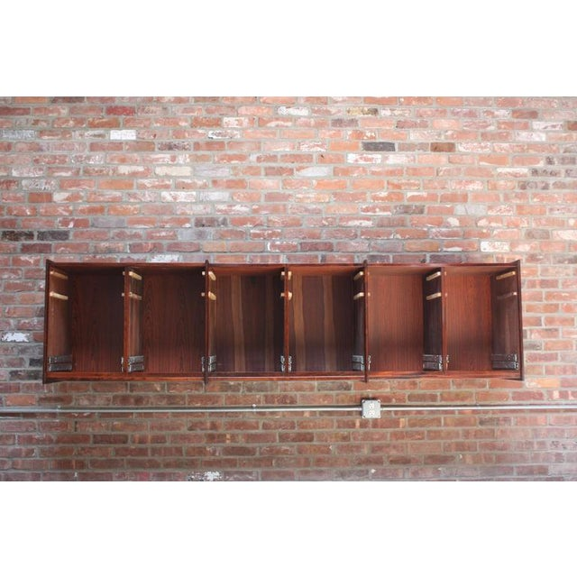 Monumental Scandinavian Modern Rosewood Floating Credenza - Image 6 of 11