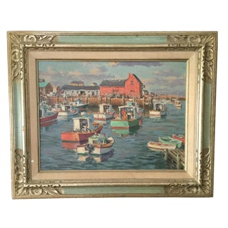 Sven Ohrvel Carlson Motif #1 Rockport, MA Painting