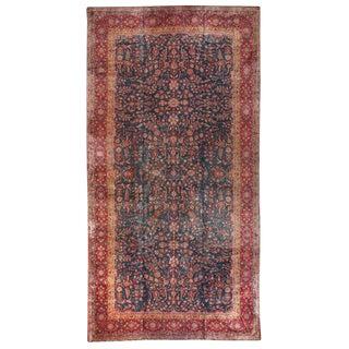 Antique Oversize Persian Kashan Carpet