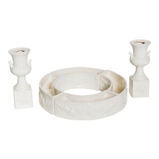 Porcelain Centerpiece with Candle Holders- A Set of 6