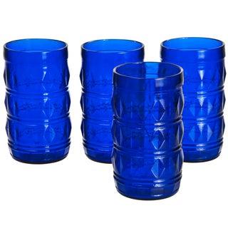 Francesinho Brazil Cobalt Blue Glasses - Set of 4