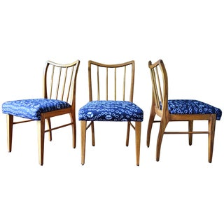 Mid-Century Modern Oak Dining Chairs - Set of 3