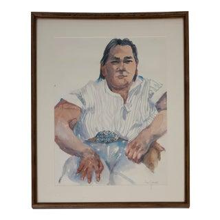 American Southwest Watercolor Portrait