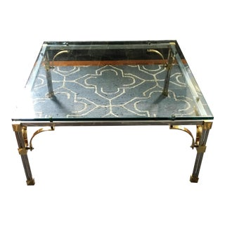 John Vesey Hollywood Regency Glass Coffee Table