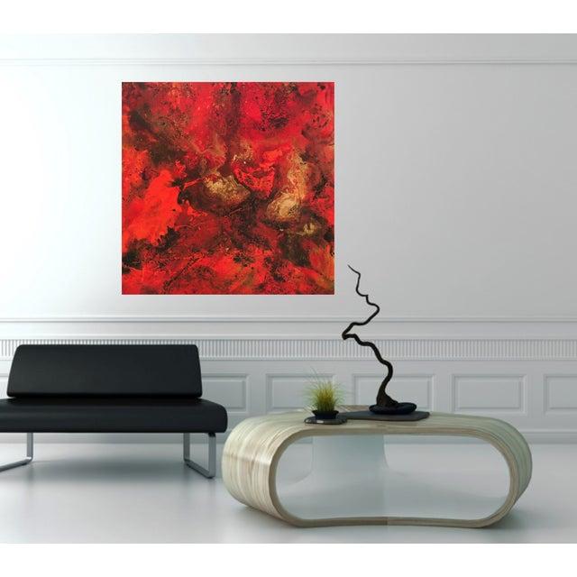 Image of Bryan Boomershine 'Sunset' Abstract Painting
