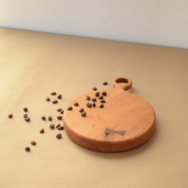Small Cherry Board with Walnut Bowtie - Image 6 of 8