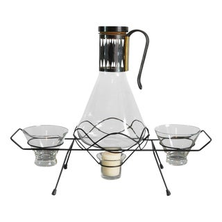 Mid-Century Coffee Carafe on Stand