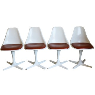 Mid-Century Modern Burke Tulip Chairs - Set of 4