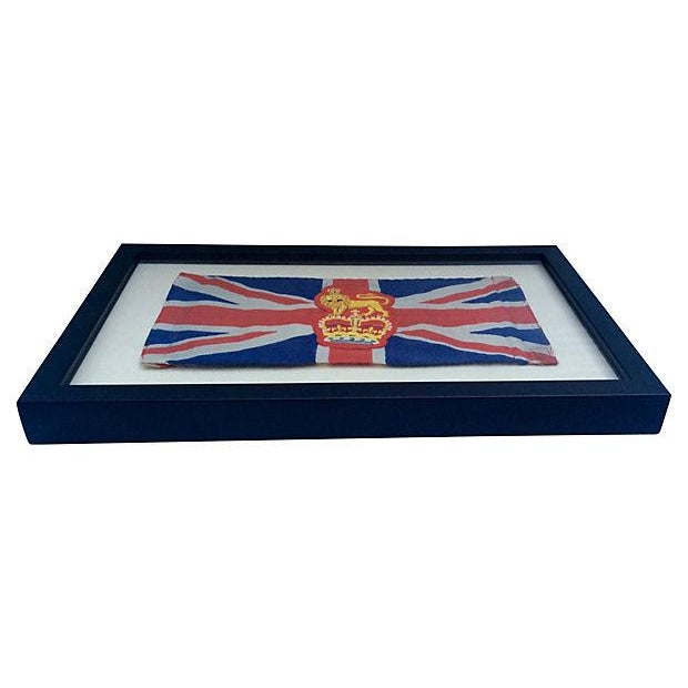 Framed King George Coronation Flag - Image 2 of 4