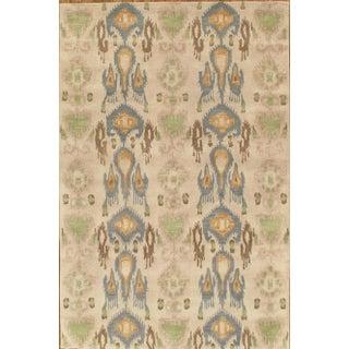 """Pasargad's Ikat Wool Area Rug - 5' 9"""" X 8' 9"""""""