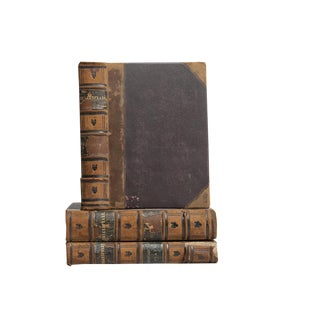 Antique Leather Shakespeare Books - Set of 3