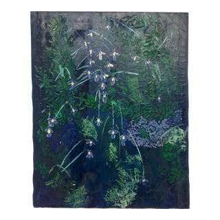Vintage Impasto Oil on Canvas Lavender Cascades