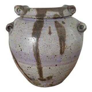 Mid-Century Gray Pottery Vase