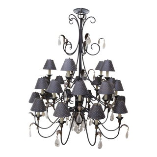 Michele Chandelier with Shades and Crystals